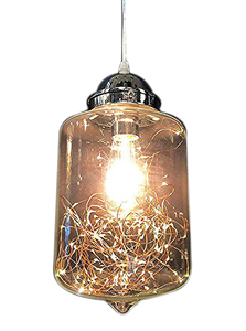 Modern Adjustable Pendant Light w Fairy String Lights Inside
