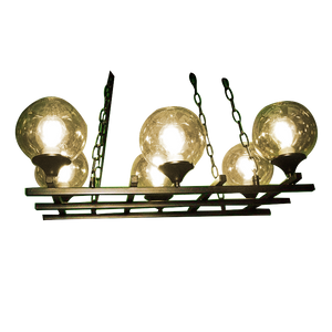 Modern Black Iron LED/Halogen Chandelier