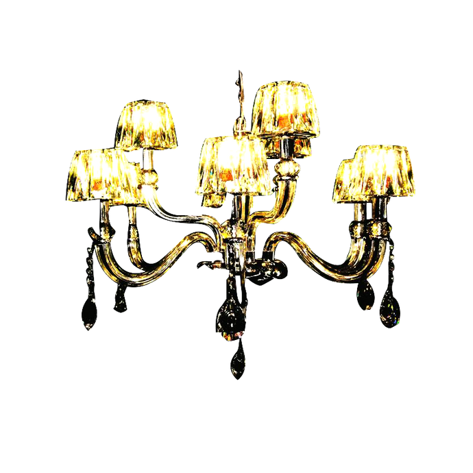 Modern Crystal & Iron Chandelier