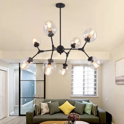 Modern Glass Globe Living Room Pendant Lights