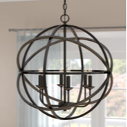 Modern Hanging Round Pendant Light