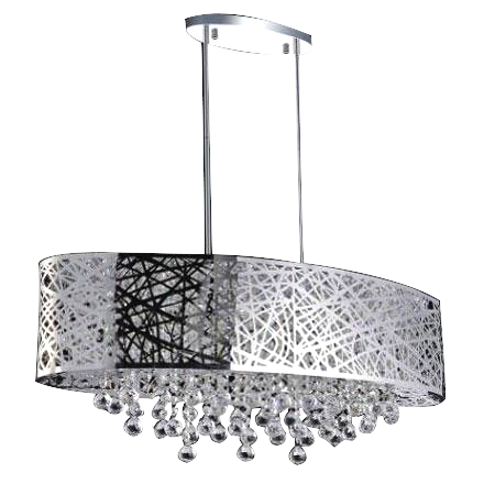 Modern Semi Flush Mount Adjustable Crystal Ceiling Light