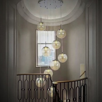 Sophisticated 10-light Flush Mount Hanging Ceiling Globe Lights