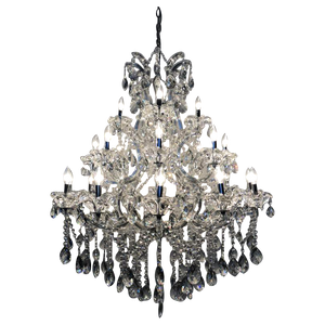 Traditional Crystal and Glass Chandelier Gray.png