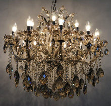 Load image into Gallery viewer, Gloria - Traditional Crystal and Glass LED / Halogen Chandelier