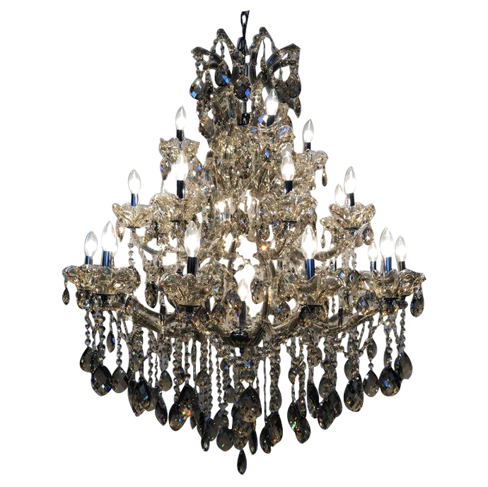 Traditional Crystal and Glass Chandelier
