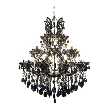 Load image into Gallery viewer, Traditional Crystal and Glass Chandelier Gray.png