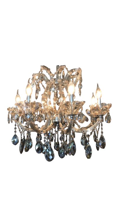 Traditional Crystal and Glass LED  Halogen Chandelier