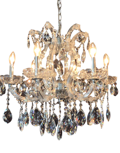 Traditional Crystal and Glass LED / Halogen Chandelier