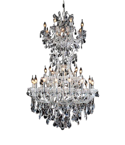 Traditional Silver Crystal Chandelier