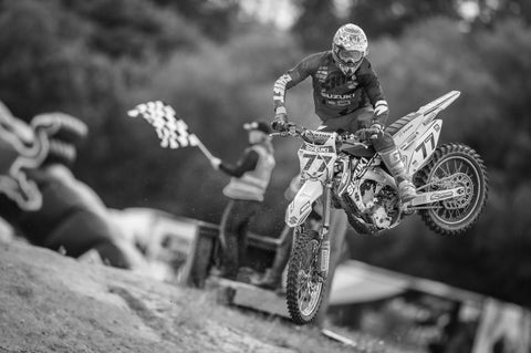 Motocross Rider and Bike in Mid Air 2