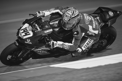 MotoGP Rider and Bike leaning into a turn