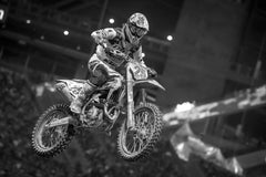 Motocross Rider and Bike in mid air