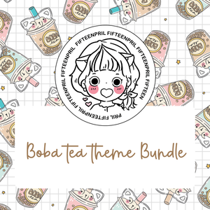 Boba tea foxigirl themed Bundle-about 20% less! LIMITED Bundles only