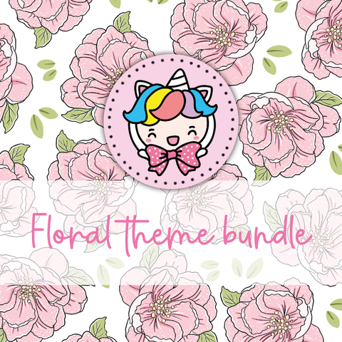 Floral foxigirl themed Bundle-about 20% less! LIMITED Bundles only