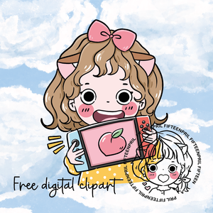 FREE- Gaming foxigirl-LIGHT SKIN digital clipart (digital files only)