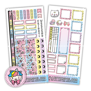 Moon magical hobonichi sticker kit