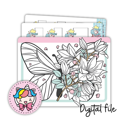 Buttefly sticker pocket (digital files only)
