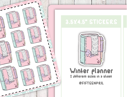 Winter planner sticker sheet- not included in the bundle