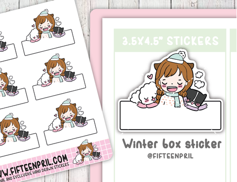 Winter box sticker sheet- not included in the bundle