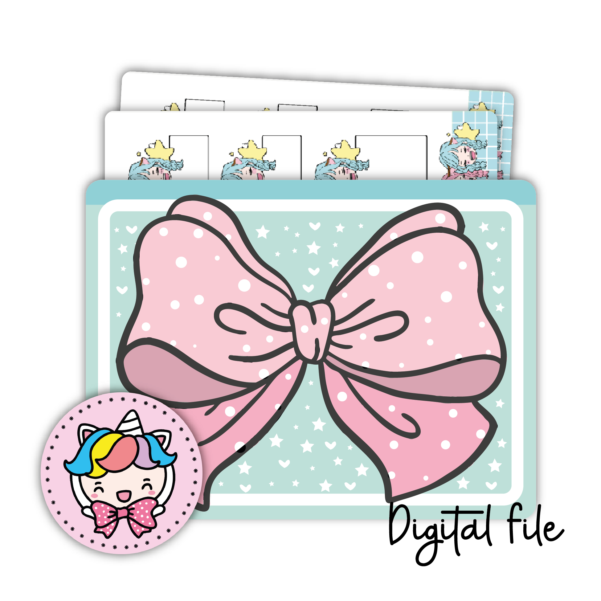 Ribbon sticker pocket (digital files only)
