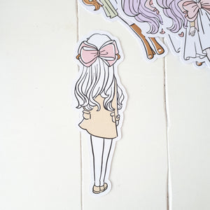 DC023-Ribbon hair foxigirl die cut