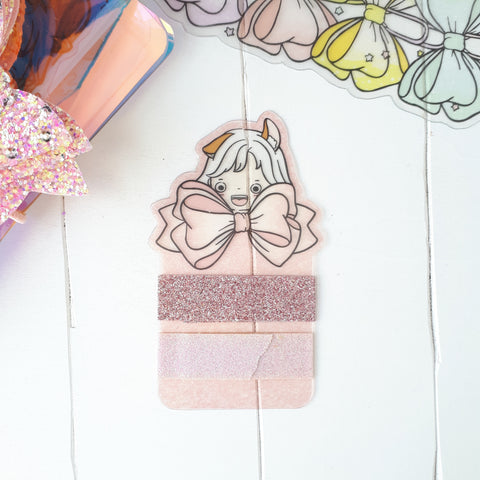 Ribbon clear washi card-LIMITED QUANTITIES ONLY