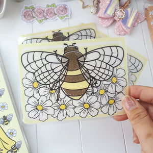 Bee Sticker Pocket-VERY LIMITED QUANTITIES ONLY