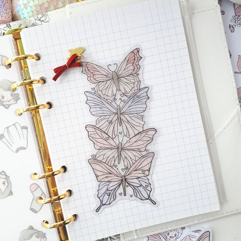 Pink butterflies clear bookmark-LIMITED QUANTITES ONLY