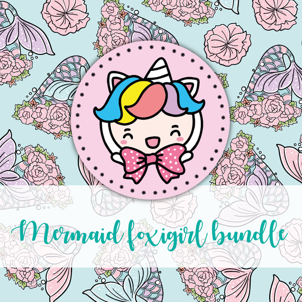 Mermaid foxigirl themed Bundle-about 20% less! LIMITED Bundles only