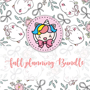 NO CODE: Fall plannning foxigirl themed Bundle-25% less! LIMITED Bundles only