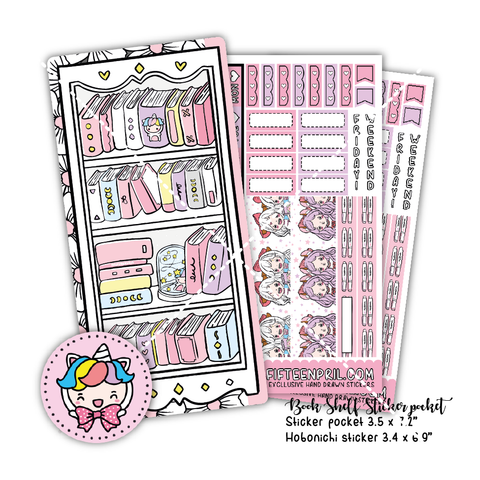 Book shelf Hobonichi sticker pocket