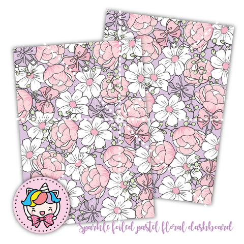 "Sparkle foiled floral dashboard-5x7""/B6"