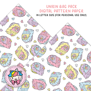 Unikin bag pack digital paper (digital files only)