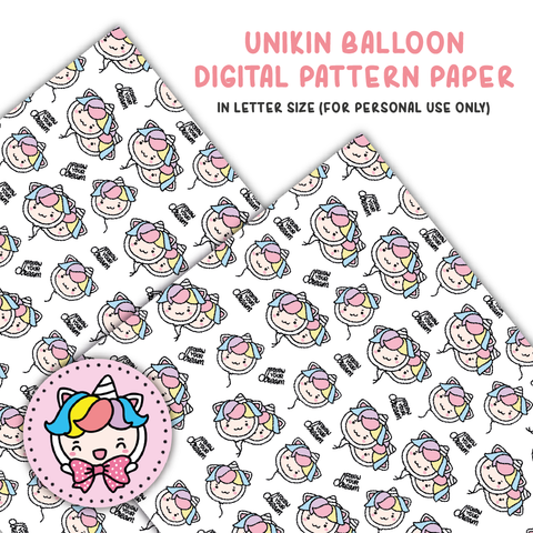 Unikin balloon digital paper (digital files only)
