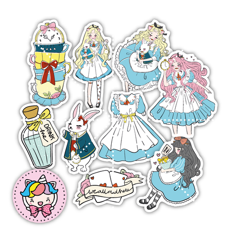 Alice inspired foxigirl diecut set