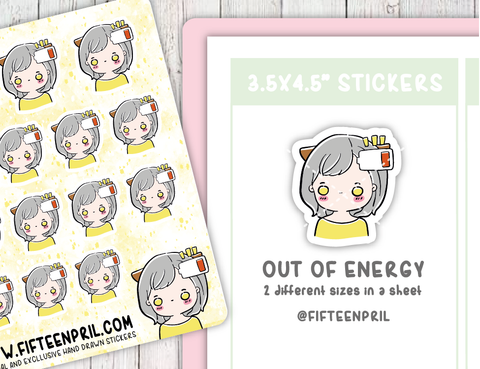 F066-energy Foxigirl sticker