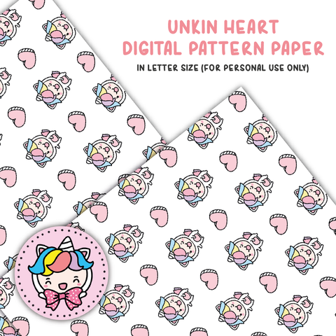 Unikin heart digital paper (digital files only)
