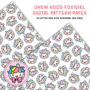 Unikin hood foxigirl digital paper (digital files only)
