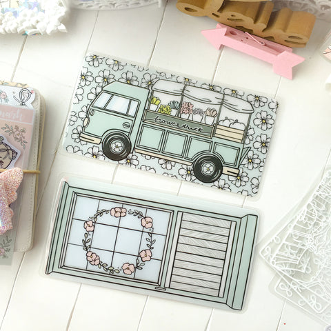 Flower truck Hobonichi sticker pocket- item on the TOP - LIMITED QUANTITIES