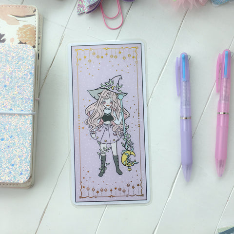 Witch foiled writing/pencil board for hobonichi-LIMITED QUANTITIES ONLY