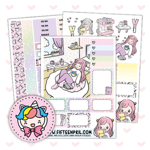 Pastel Planning foxigirl sticker kit