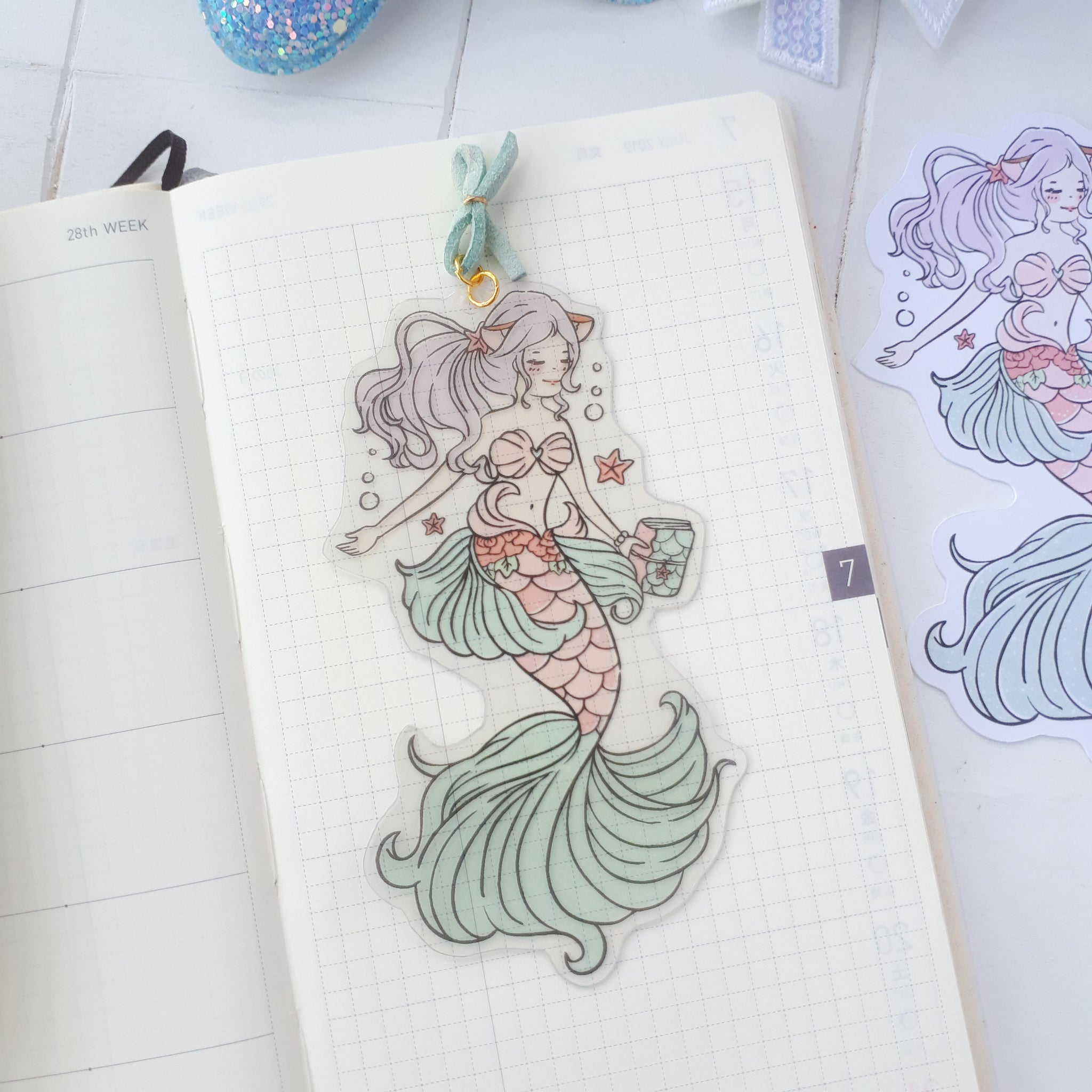 Mermaid foxigirl clear bookmark-LIMITED QUANTITES ONLY