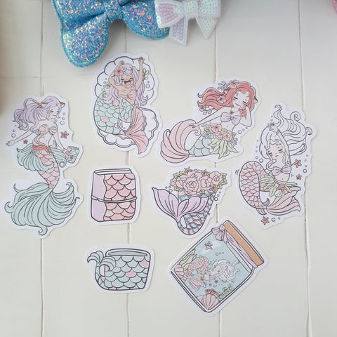 Mermaid foxigirl diecut set