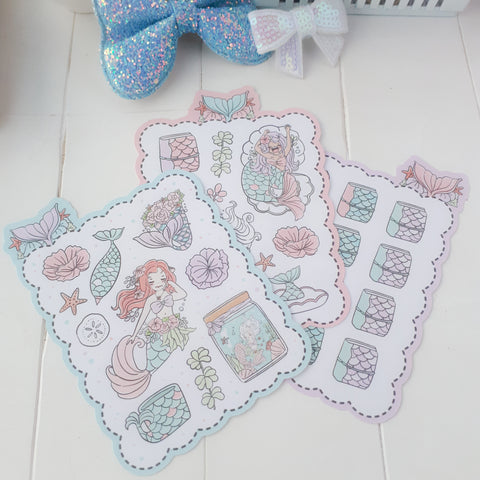 Mermaid foxigirl sticker set