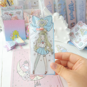 Moon magical foxigirl clear bookmark-LIMITED QUANTITES ONLY
