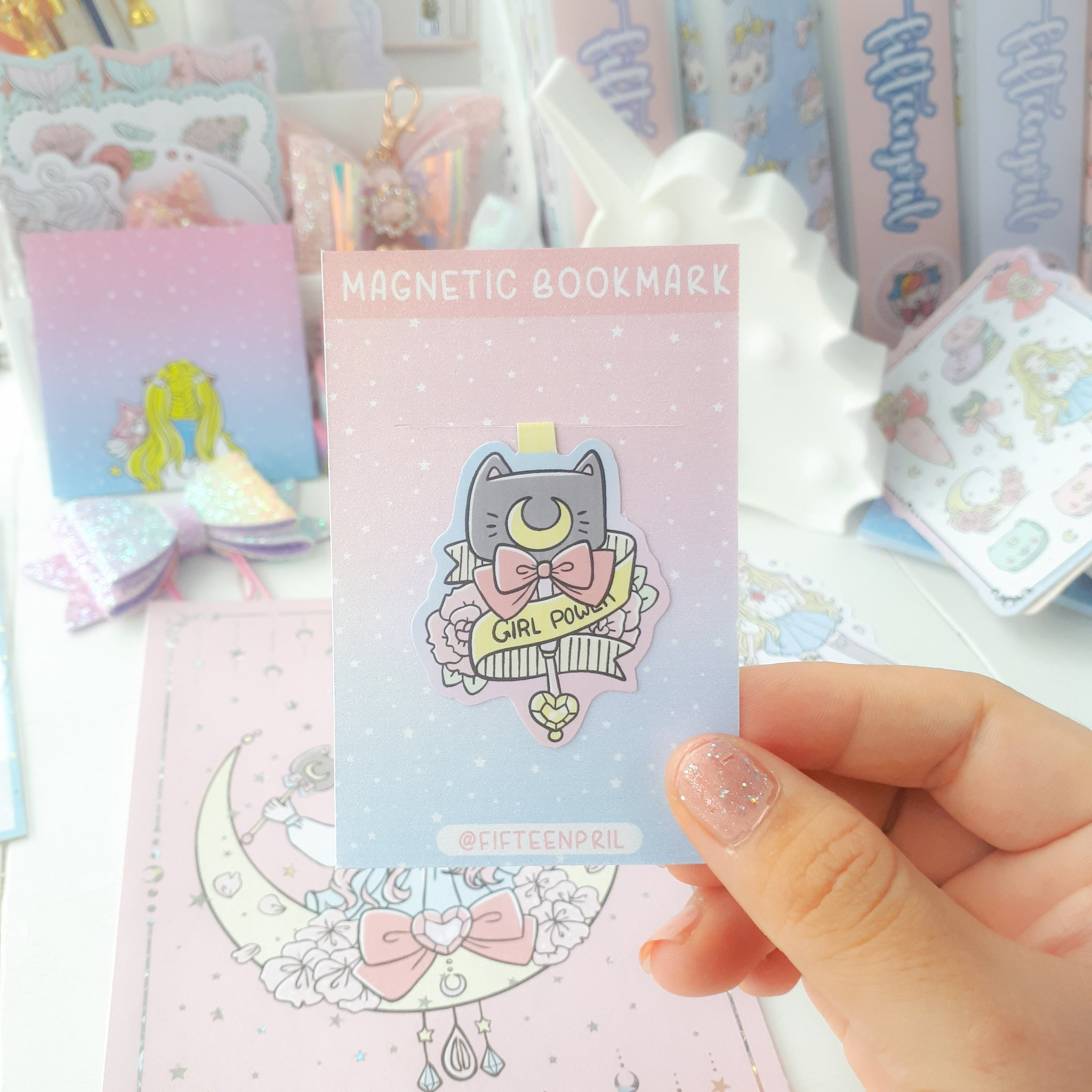 Moon magical magnetic bookmark-LIMITED QUANTITES ONLY