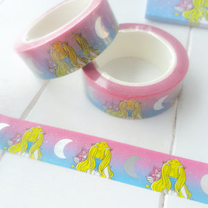 Moon magical foxigirl holo foiled washi roll