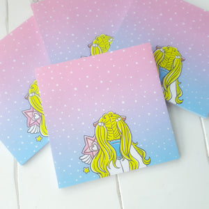 Moon magical Foxigirl Sticky Notes