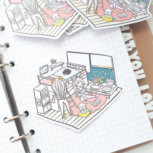 Planner twin room-FOILED